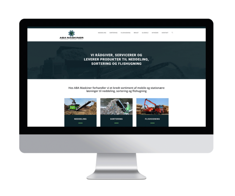 køreklar hjemmeside maskinforhandler