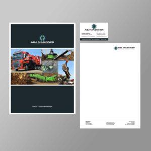 grafisk profil brevlinje omslagsmappe