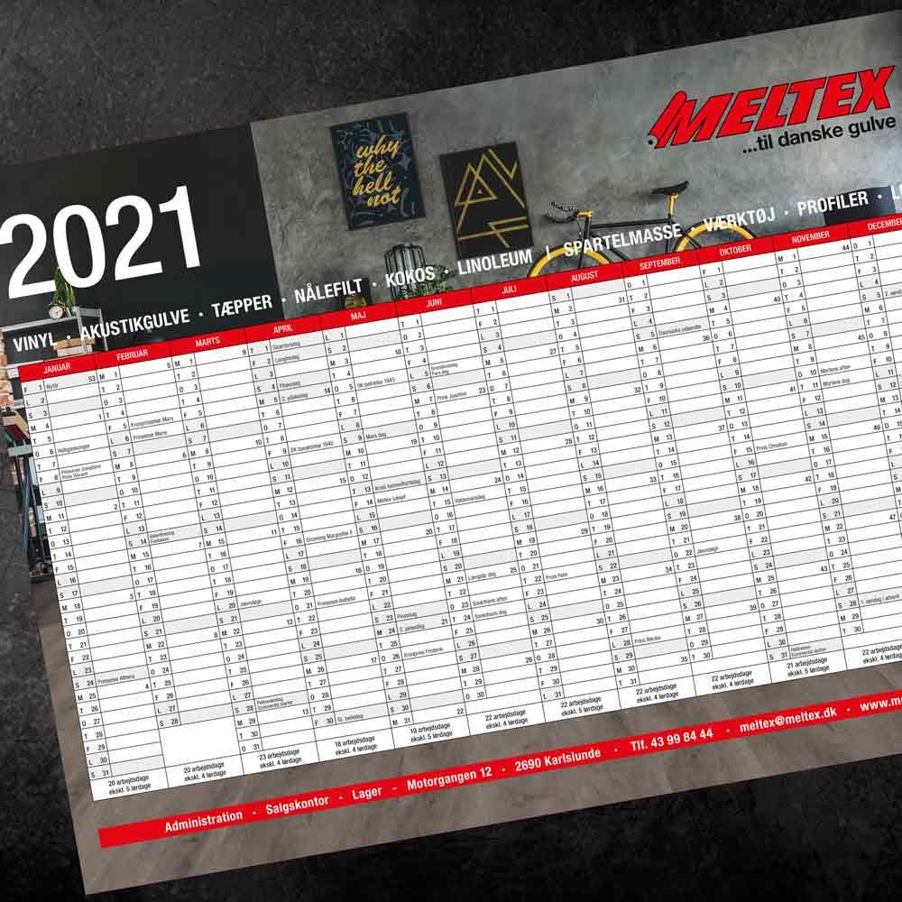 grafisk design vægkalender