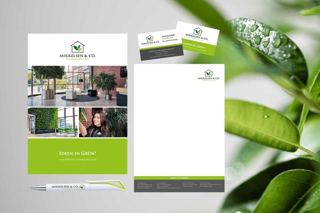 visuel identitet brevlinje profilbrochure