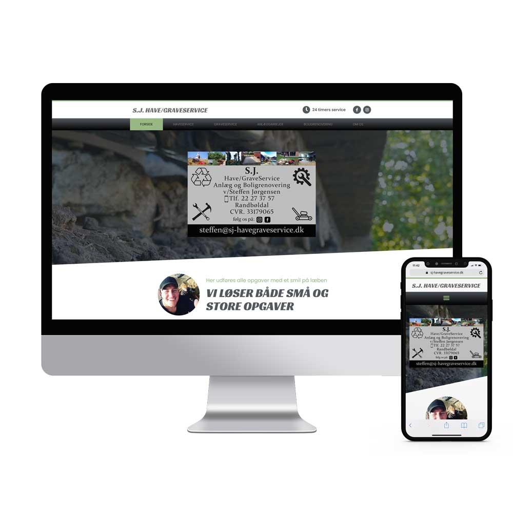 Online visitkort entreprenør